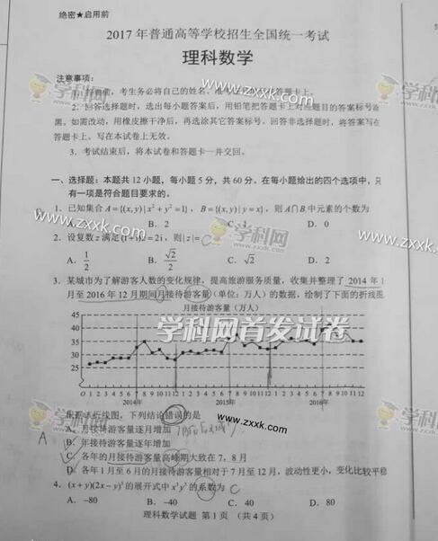 2017全国卷3高考数学理试题